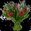 elegant-julbukett-rosa-tulpaner