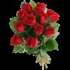 Begravningsbukett-Love i rött