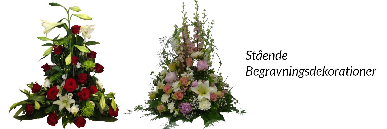 Stående begravningsdekoration