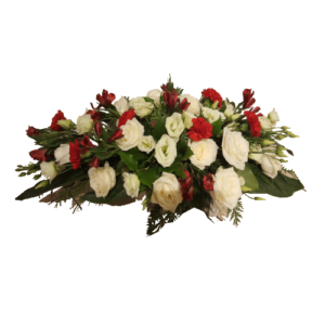 Begravningsdekoration Röd-vit